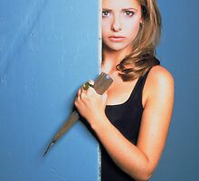 Buffy Stake iPhone Case by badermunayes