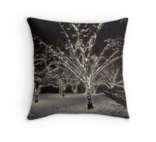 Trees in the Snow Throw Pillow
