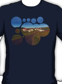 Country road, scenery and blues sky II | landscape photography T-Shirt