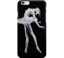 A Ballerina in Black and White iPhone Case/Skin