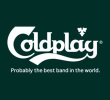Coldplay Carlsberg T-Shirt Green by Robert Smith