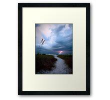 Lone Lightning Strike Framed Print
