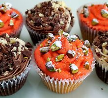 Chocolate and Turkish Delight Cupcakes  by sewherethebling