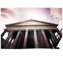 Pantheon at Sunset: Rome, Italy Poster