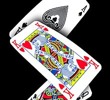 Smartphone Case - Ace King Queen - Black  by Mark Podger