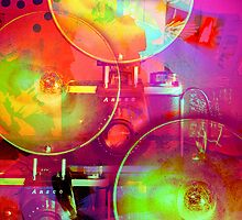 Colorful Camera Art by susan stone