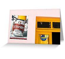 Cerveza at No. 37 Greeting Card
