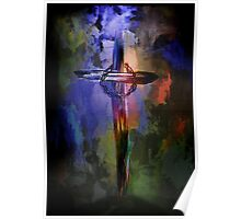 Cross with crown. Poster