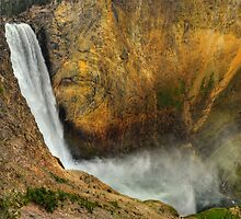 Lower Falls Yellowstone National Park by Ken Smith