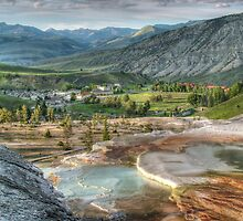 Mamouth Springs Yellowstone national Park by Ken Smith
