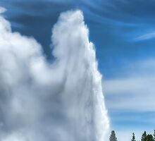 Old Faithful Yellowstone National Park by Ken Smith