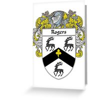 Rogers Coat of Arms / Rogers Family Crest Greeting Card