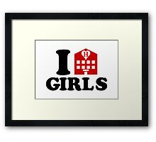 I Love Hotel Girls Framed Print