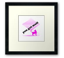 you got mail Framed Print