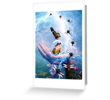 IN THE EYE OF THE STORM ~ TRANSFORMATION Greeting Card