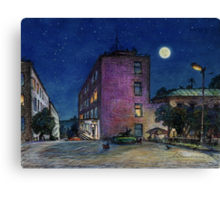 Town. Evening Canvas Print