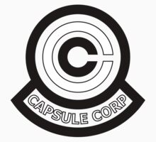 Capsule Corporation Black and White Logo (Dragonball Z, Large) by Larsonary