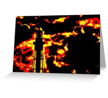 Fiery Lighthouse Greeting Card