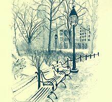 Washington Park in Winter by TroySalmonArt
