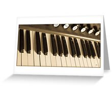 The Keys of Sound Greeting Card