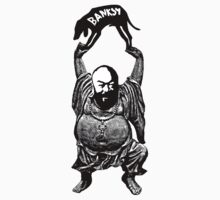 The joyful monk (Ai Weiwei) and black dog (Banksy), they dance for art. by rodric