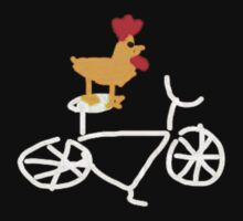 Chicken on a bike by jaxters