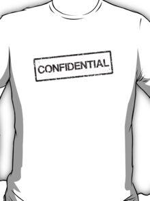 Confidential black grunge stamp, tilted T-Shirt