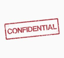 Confidential red grunge stamp sticker by Mhea