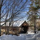 Covered Bridge in Winter  by Monica M. Scanlan