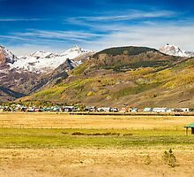 Crested Butte City Colorado Panorama View by Bo Insogna