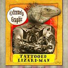 Carnival Banner - Tattoed Lizard Man by GregorDyer