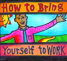 How to Bring Yourself to Work Notecard or Print by humanworkplace