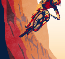 retro style mountain bike poster: Good to the Last Drop Sticker