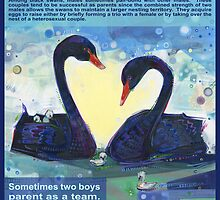 Happily ever after (Black swan) - POSTER by Gwenn Seemel
