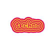 Techno Text Logo Photographic Print