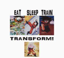 eat train sleep=transform Kids Clothes