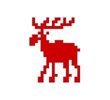 Pixel Moose Photographic Print