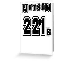 Watson 221b - Sports Jersey - SHERLOCK Greeting Card