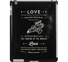 Love - Capt. Malcolm Reynolds (Serenity) iPad Case/Skin