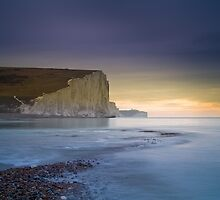 The Seven Sisters from Cuckmere Haven by SteveLanePhotog