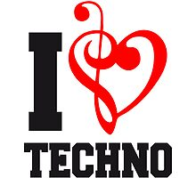 I Love Techno Music by Style-O-Mat