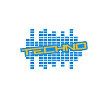 Equalizer Techno Logo Photographic Print