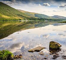 Reflections of Loch Fyne, Scotland. UK by Heidi Stewart