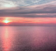Norfolk summer sunset by Avril Harris