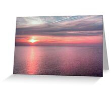 Norfolk summer sunset Greeting Card