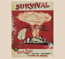 Survival nuclear 1950's Vintage T-shirt by nicethreads