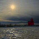 Winter Sun at Holland State Park by Roger  Swieringa