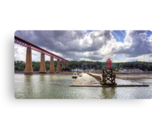 The end of the Hawes Pier Canvas Print