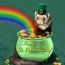 St. Patrick's Day Ferret  by jkartlife