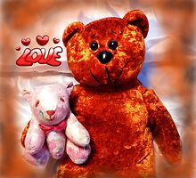 "The Teddy Bears ""Teddy Bear"" by WildestArt"
